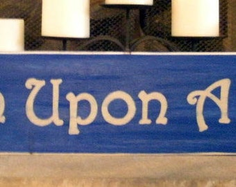 32x5.5 Wish Upon A Star (Choose Color) Shabby Chic Sign