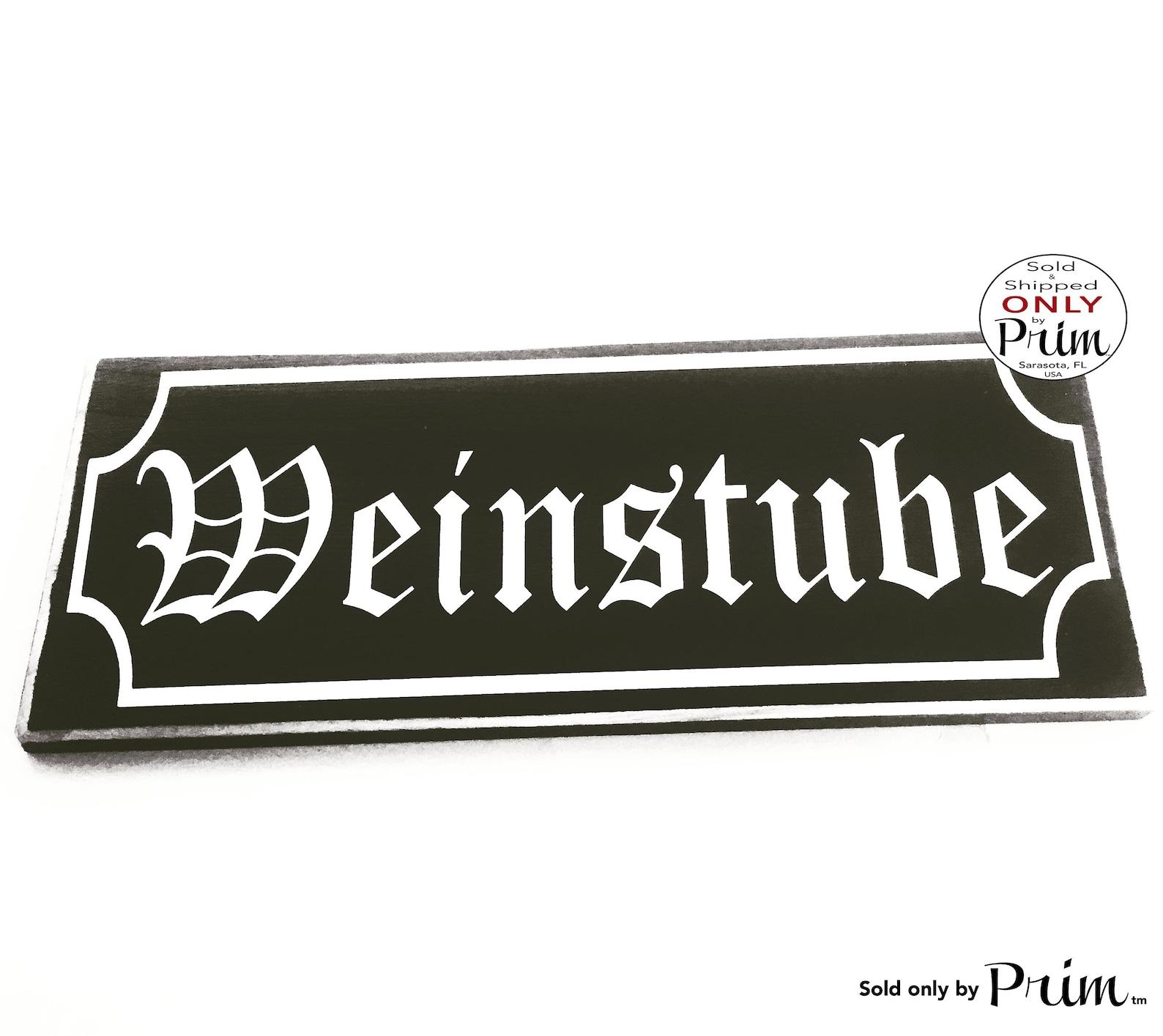 14x6 Weinstube Custom Wood Sign   Wine Bar