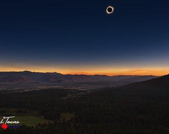 Wyoming All Seeing Eye Total Solar Eclipse 2017 Souvenir Sticker EC048