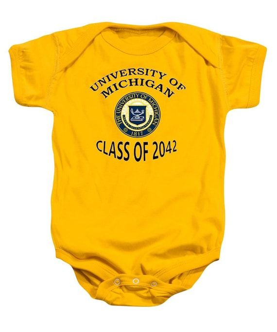 University Of Michigan Class Of 2042 Baby One Piece Baby Etsy