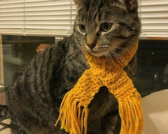Crochet Cat Collar, Cat Scarves, Scarf With Fringes, Scarf For Cat, Cat Scarf, Fringes Scarf for Cat, Gift for Cat, Custom Size