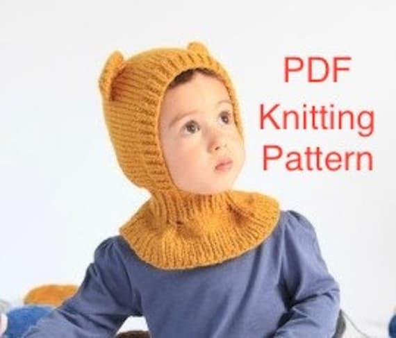 Pdf Honey Bear Balaclava Hat Knitting Pattern Etsy