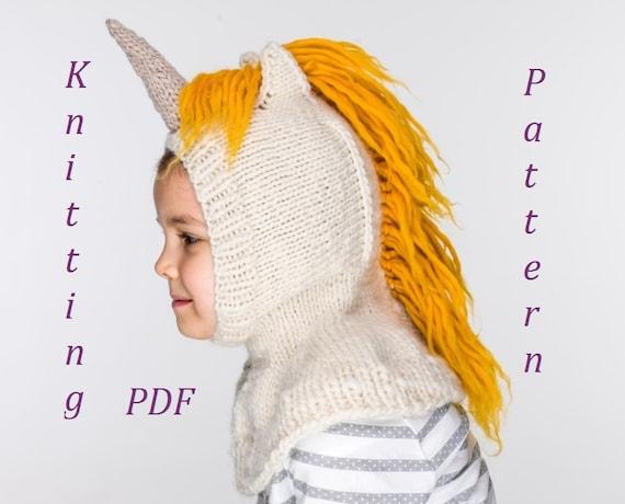 Pdf Unicorn Balaclava Hat And Mittens Knitting Pattern Etsy