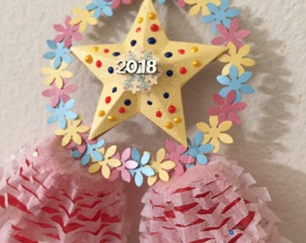 one 2018 miniature handcrafted filipino christmas lantern ornament aka parol