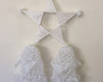 Made To Order One Handcrafted  Large Filipino Christmas Parol. Made with Bamboo and paper Size: 12 inches by 24 inches