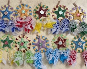 Made To Order 3x5 inches Miniature Handcrafted Filipino Christmas Lanterns AKA Parol - 10 Christmas Ornaments