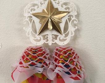 Made To Order One 5 x 9 inches Miniature Filipino Paper Christmas Lantern AKA Parol - Christmas Tree Ornaments
