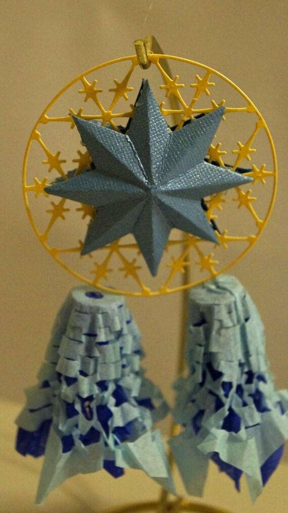 Christmas Lantern.One Blue Miniature Filipino Christmas Lantern Aka Parol Great Wedding Giveaways