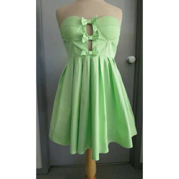 Vintage 1990s Strapless Prom Dress Mini short tutu