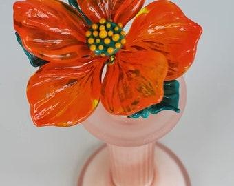Glass primrose orange