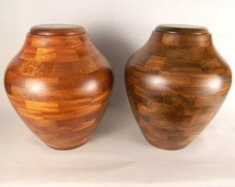 Urn, Cremation Urn, Adult Cremation Urn, Wood Cremation Urn, Turned Wood Cremation Urn, Ashes, Adult Ashes, Pet Urn, Pet Ashes