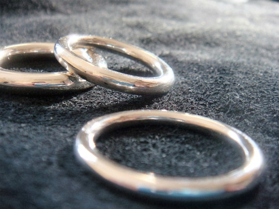 3mm 4mm 5mm Dicke volle Runde Sterling Silber Ringband   Etsy