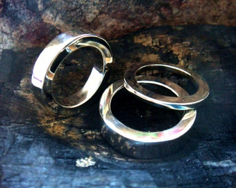 heavy and chunky silver ring, 2mm 4mm 6mm mens wedding band,  8mm 10mm 12mm too, flat and heavy and chunky, your size, edgy feel