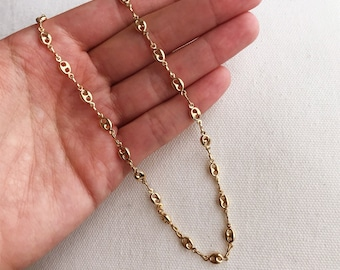 24650b67635 Gold Filled Necklace Gucci Link Chain Gucci Link Gold Necklace Gift for her Gold  Chain Link Necklace Gold 16