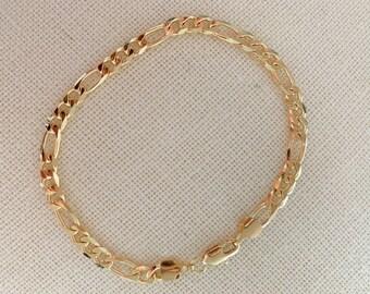 Gold Filled Figaro Bracelet, Gold Layering Bracelet, Gold Chain Bracelet, Figaro  Bracelet 18kt, Dainty Chain Bracelet, Gift for Her 49436eddfb6e