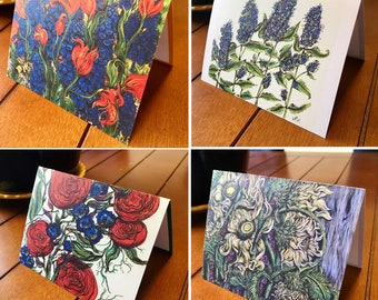 Art Note Cards featuring artwork by Kellie Cox