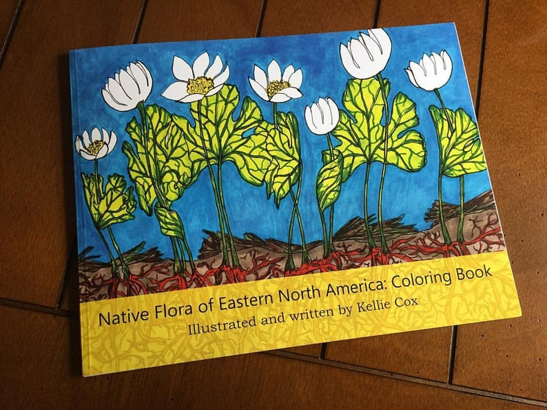 Native Flora of Eastern North America: Coloring Book. image 0