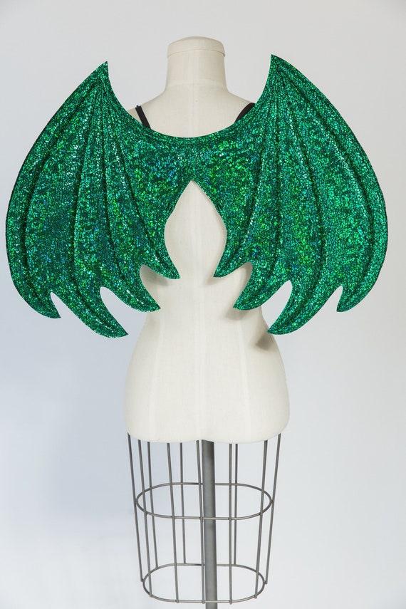 Green Dragon Wings strukturierte Metallic grün Draht frei   Etsy