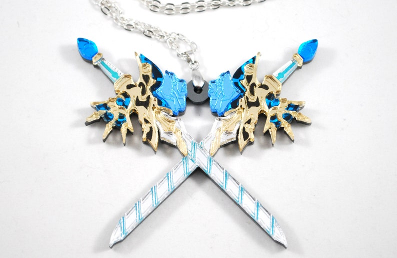 XC2 Brighid Single or Dual Blade Acrylic Necklace or Keychain