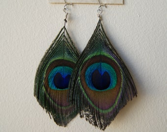 Peacock Feather Earrings - Petite, Handmade with Love and built to Last.