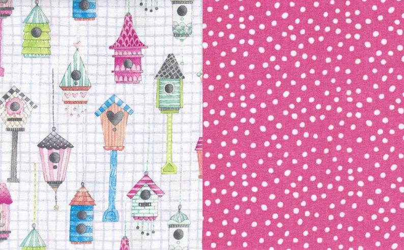 Fabric Bundle 1 2 Or Yard Each Love Shack Dots On Rose