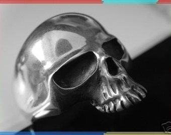 SKULL 925 ring all size  Hell Rider  Skull Ring Sterling Silver 925