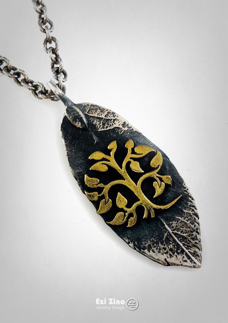 Original Ezi Zino Tree of Knowledge Brass /& Solid Sterling Silver 925 Pendant