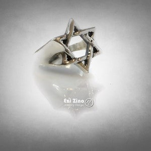 Shma Israel Jewish Prayer Bless Star Shield of David Ten Commandments Hand Mad