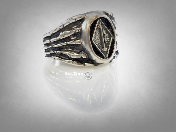 silber 008 1/%er Ring aus Sterling Silber 925 Sterlingsilber Rocker Biker Outlaw
