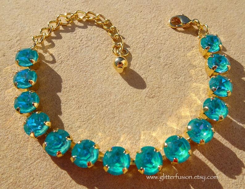 e66230daaf7d Laguna DeLite Swarovski Crystal Statement Bracelet Teal