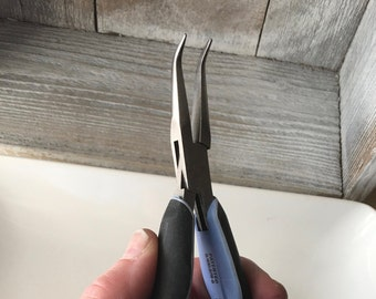 Lindstrom RX Ergonomic Bent Nose Pliers - Smooth Jaws - Model RX7892 - Very Gently Used