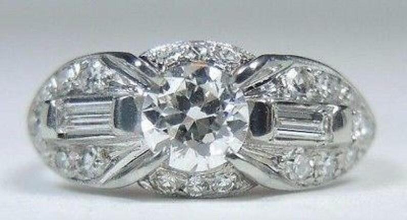 Diamond White Usa >> Antique Art Deco Diamond White Gold Engagement Ring Finger Size 5 Uk J1 2 82cttw Egl Usa Circa 1930 S Re 937