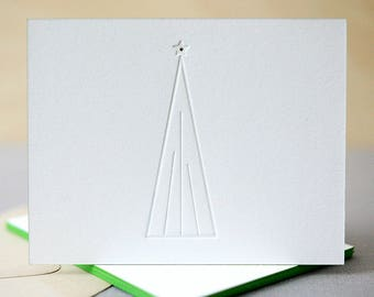 letterpress holiday cards christmas tree letterpress christmas cards modern holiday cards - Modern Holiday Cards
