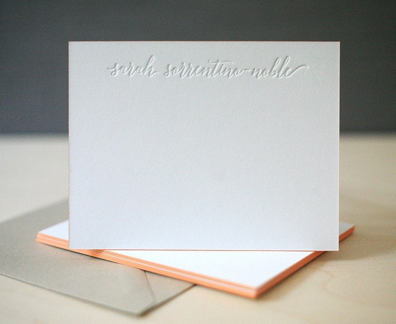 Custom Letterpress Notecards Massey