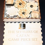Customized Order--Complete MINI Game Piece Set Compatible With Settlers Of Catan with extra set for 5-6 players