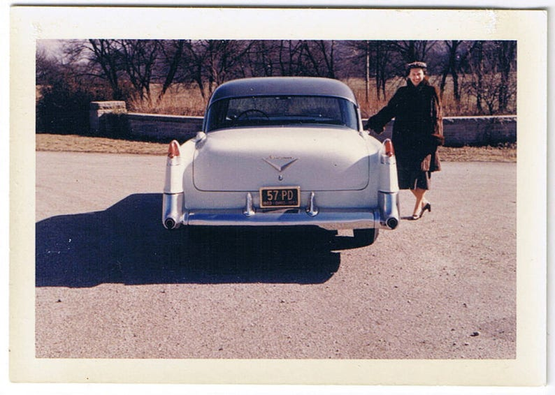 American Dream Circa 1960 >> American Dream Vintage 50 S Cadillac Four Color Photo Etsy
