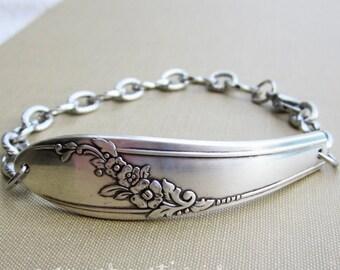 Vintage Silverware Bracelet, Queen Bess II Silverware Pattern, Spoon Bracelet, Spoon Jewelry, Vintage Silverware, Repurpose Silverware