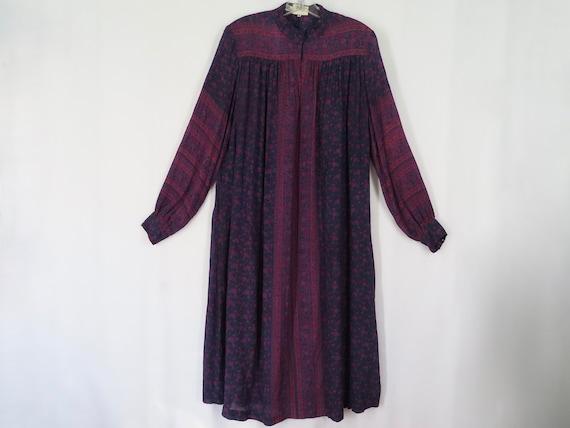 Vintage Raksha Silk Dress Hindimp London Blue Purp