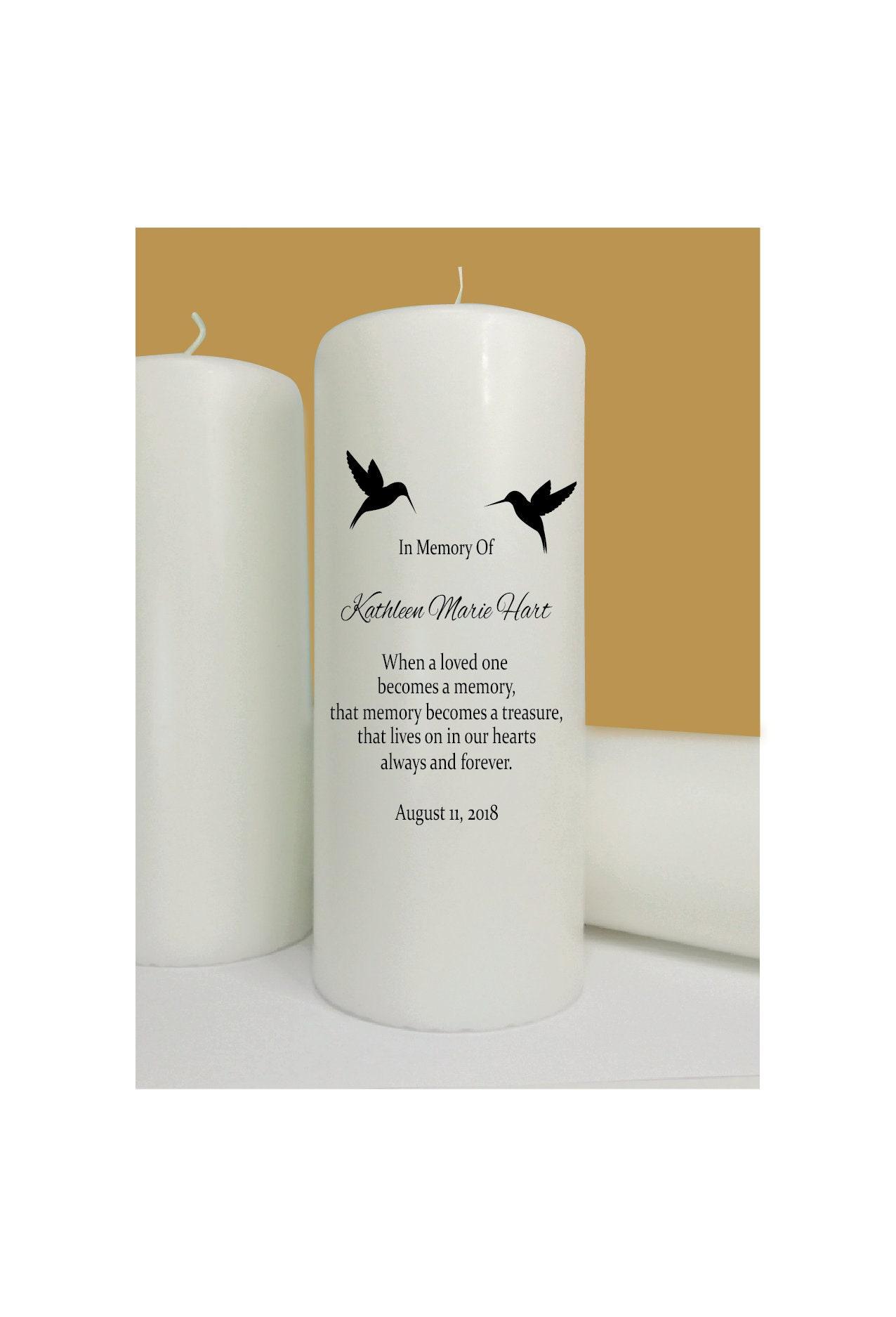Hummingbirds - Memorial Candle - Wedding Memory Candle - Sympathy ...