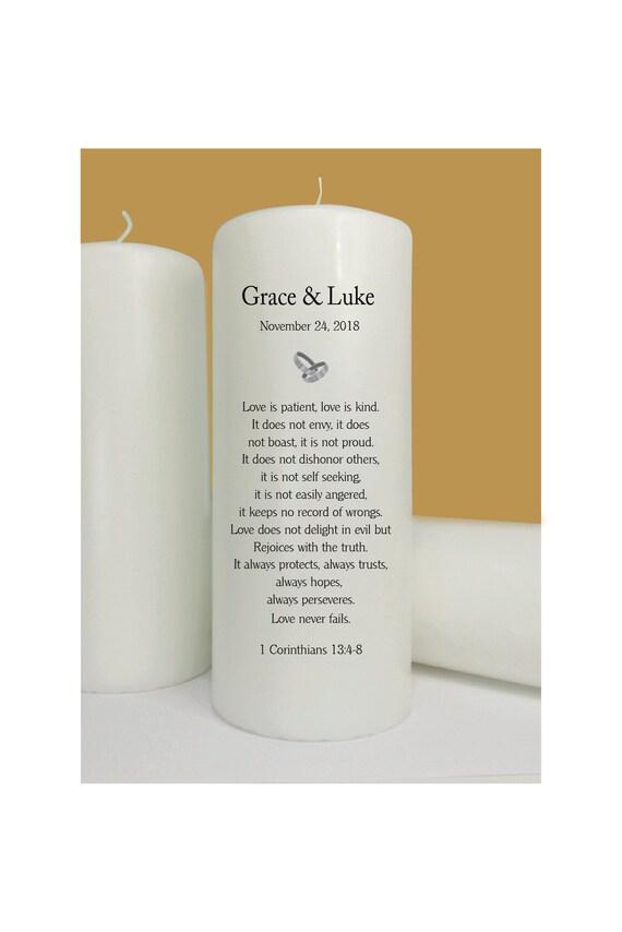 Wedding - Unity Candle - Never Fails- 1 Corinthians 13:4-8 - Lighting on