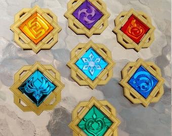 Genshin Impact Liyue Vision Pins