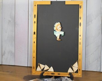 Baby Shower/Top Drop Frame/Native American/Arrows/Guest Book/Unique/Alternative/baby/baby boy/Themed Shower/Drop Frame/Feathers/Tribal