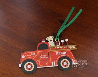 Fire Truck Christmas Decorations Outdoor  from i.etsystatic.com