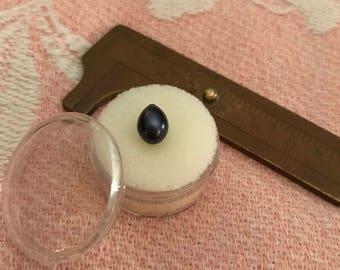 8.5 x 7 teardrop shaped blue/black pearl