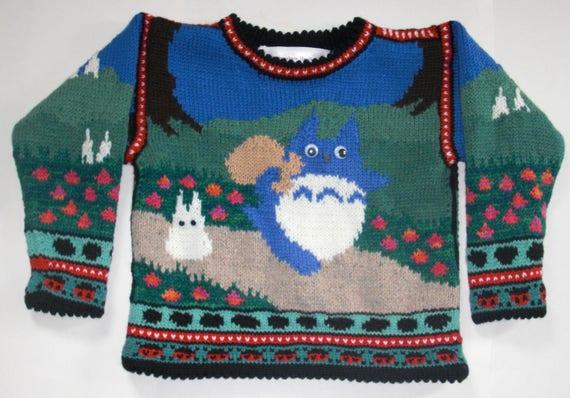 Knitting Pattern Totoros Sweater Four Years Etsy