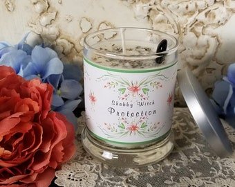 11.oz Protection Candle, Jar Candle, Altar Candle