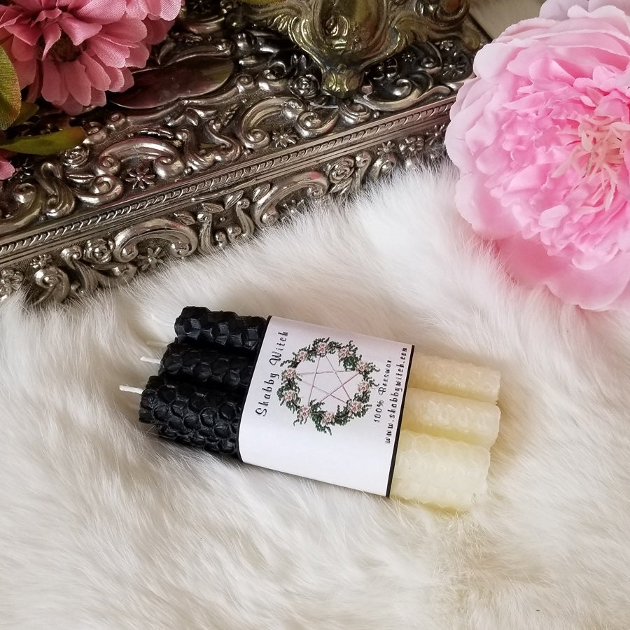White and Black Double Action Candles Double Action black ...