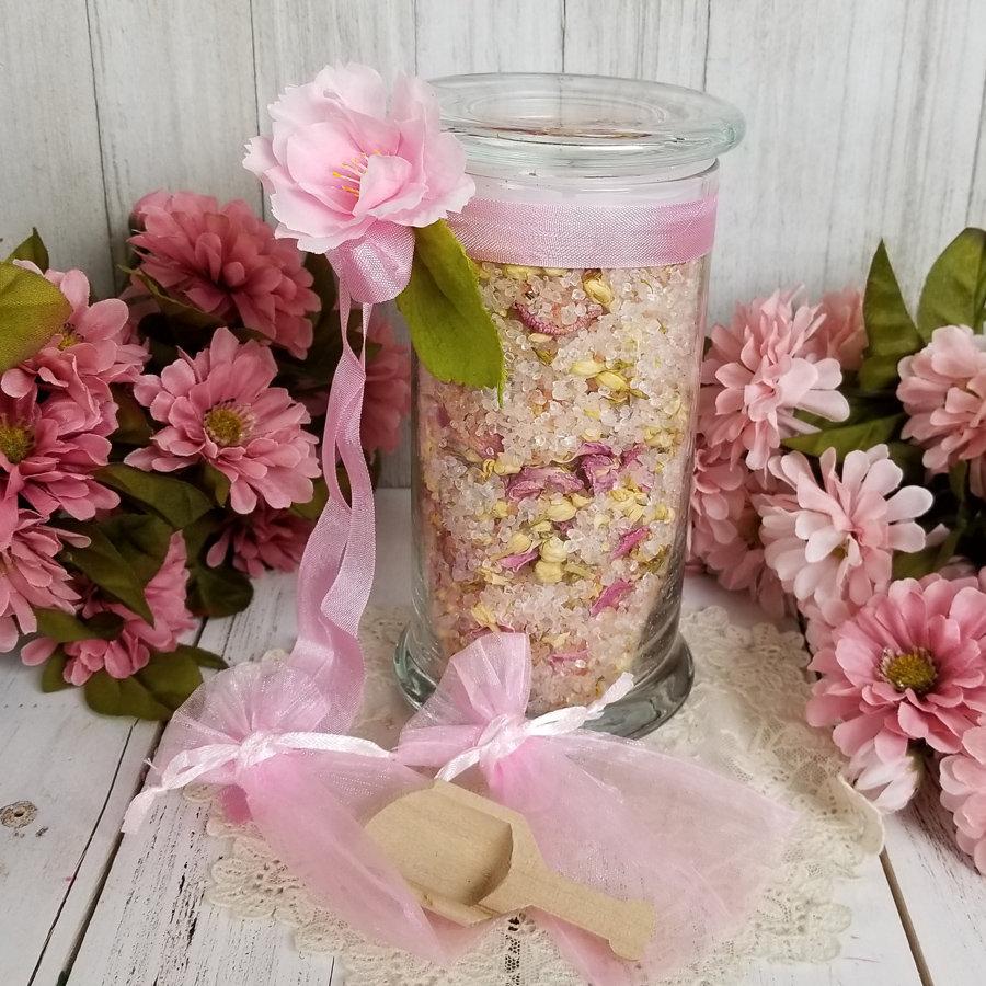 Jasmine Pink White Salt Bath Soak Pink Himalayan Salt Dead Etsy