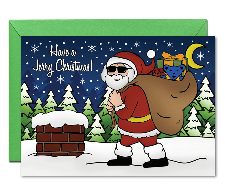 Grateful Dead Jerry Christmas Cards Jerry Garcia Holiday | Etsy
