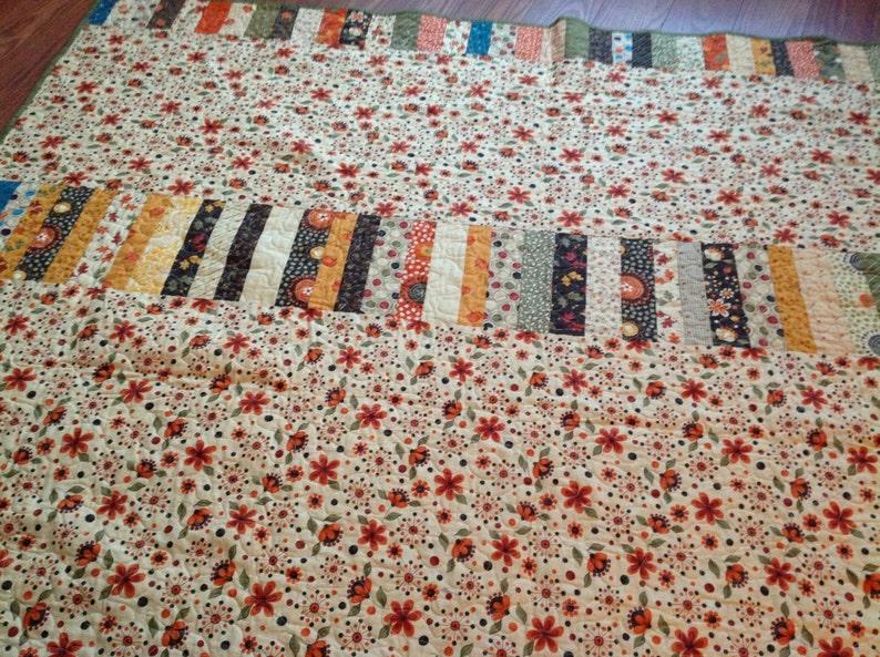 Orange Brown Green Lap quilt